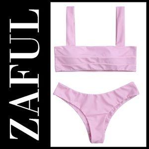 ZAFUL  Wide Straps Padded Bandeau Bikini